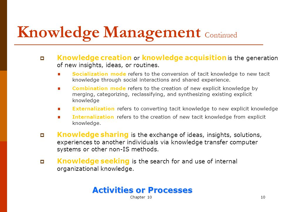 Chapter 10 Knowledge Management Ppt Video Online Download