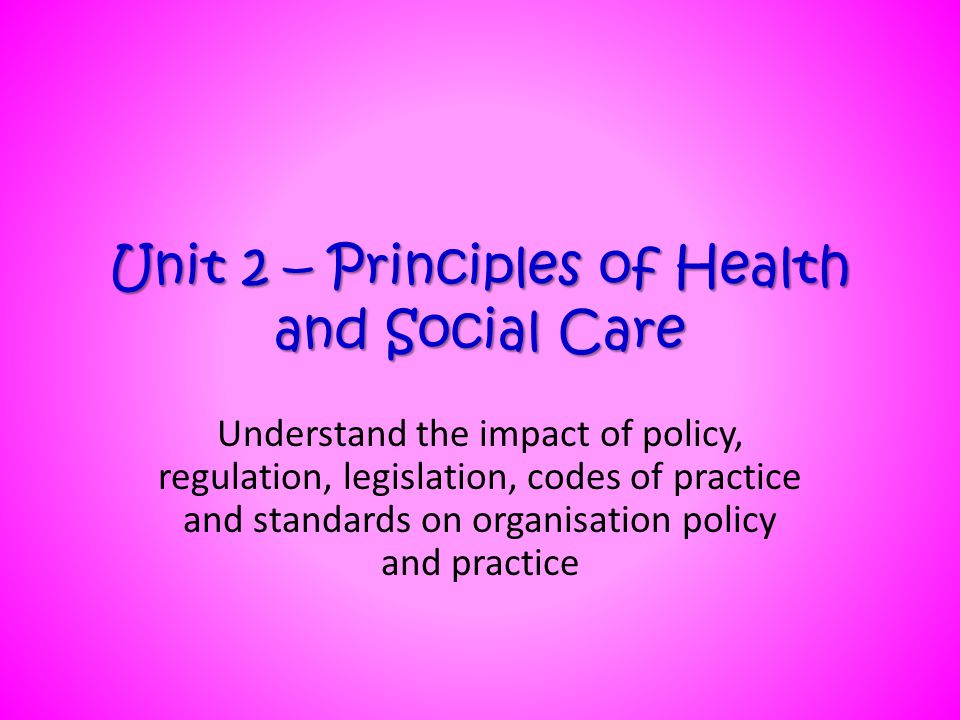 6 principles of care