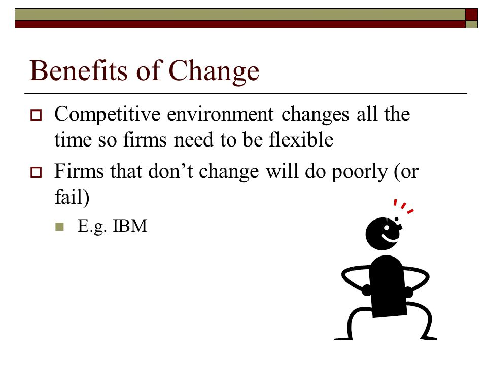 Organizational change downsizing and separations ppt for Benefits of downsizing
