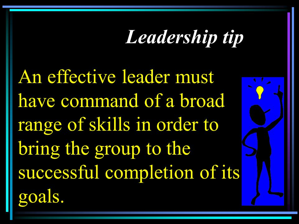 Leadership tip