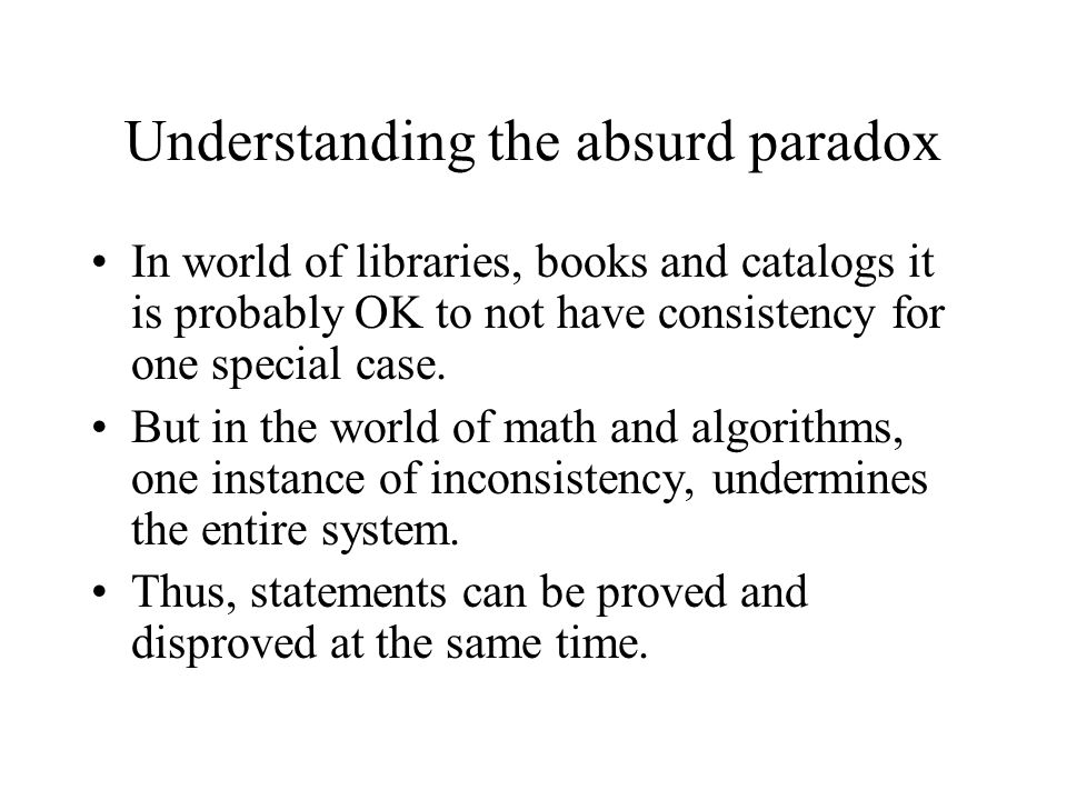 understanding paradoxes The most famous paradoxes - examples include liar paradox, barber paradox, doubtful existence of god, sentences from life, sophisms.