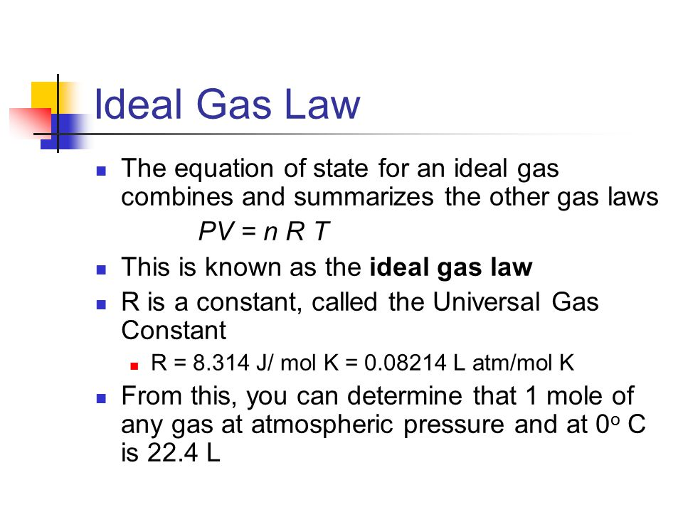 an experiment on the manipulation of the ideal gas law to determine unknown gases Approximating the adiabatic expansion of a gas jason d hofstein, phd department of chemistry and biochemistry siena college 515 loudon road loudonville, ny 12211 [email protected] 518-783-2907 thermodynamic concepts o o o o o o ideal gas vs real gas gas law manipulation the first law of thermodynamics expansion of a gas adiabatic processes reversible/irreversible processes.