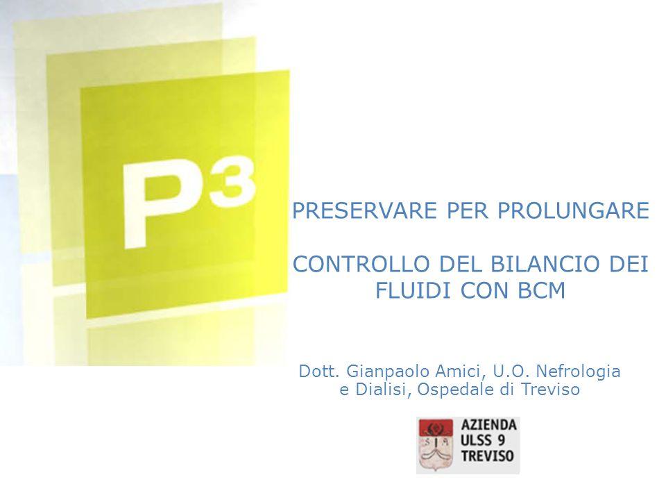 PRESERVARE PER PROLUNGARE CONTROLLO DEL BILANCIO DEI FLUIDI CON BCM