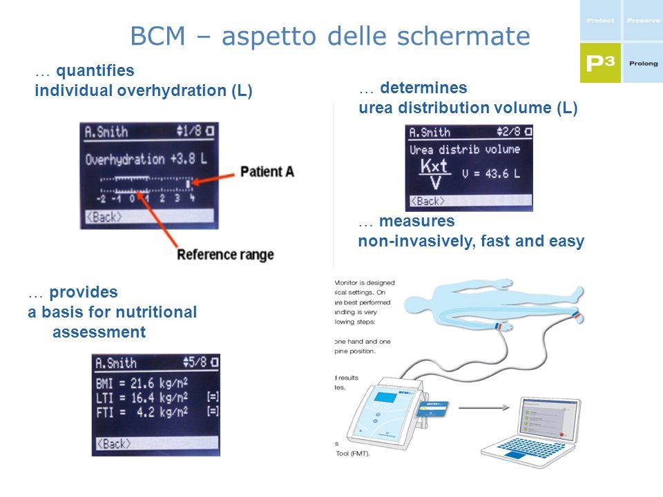 BCM – aspetto delle schermate