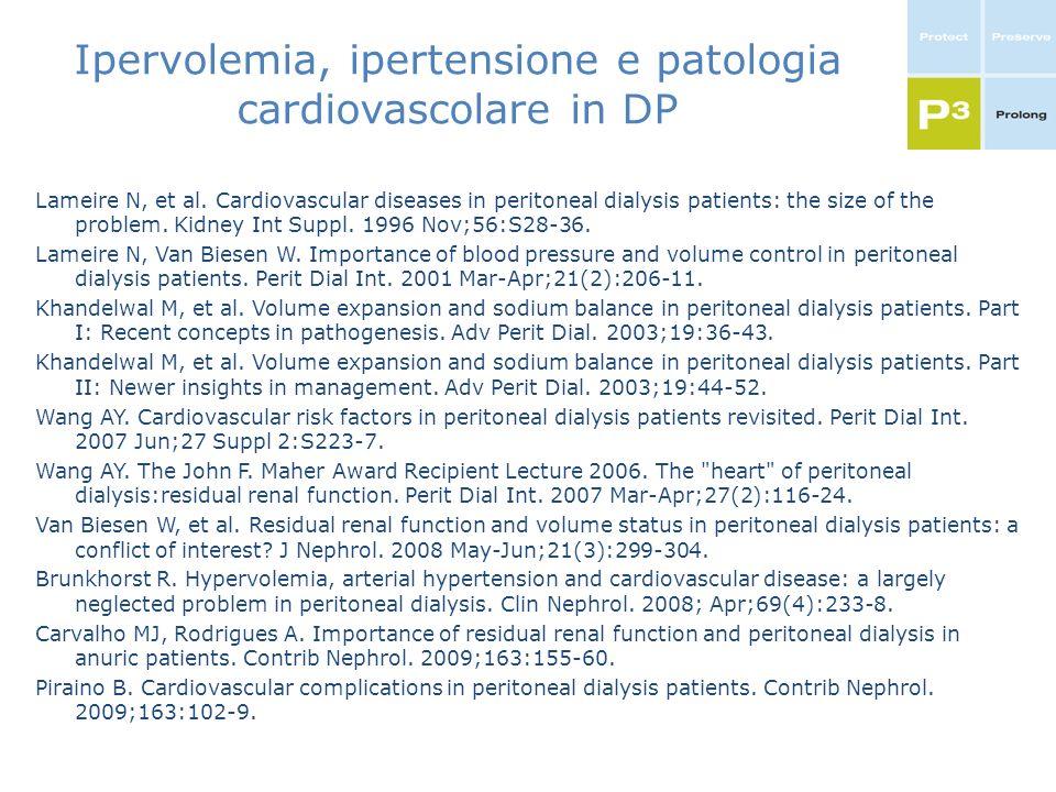 Ipervolemia, ipertensione e patologia cardiovascolare in DP
