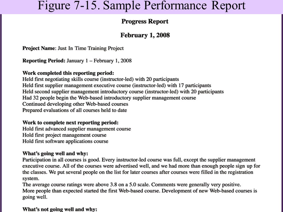 Performance Report Sample  KakTakTk