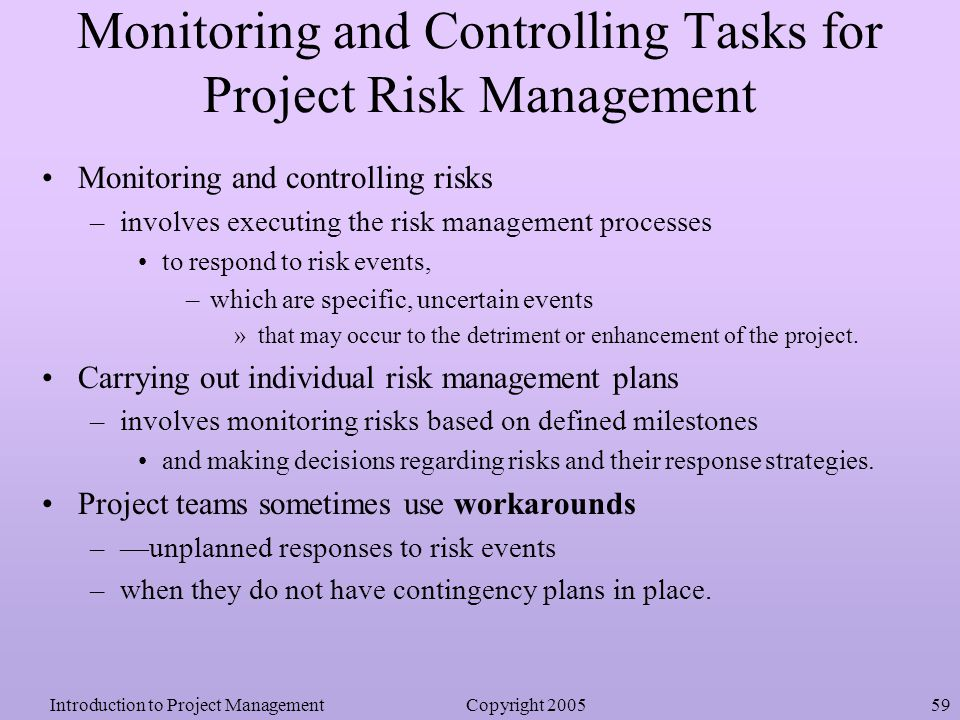 project management and monitoring Project management project management process groups project seasoned managers keep the momentum moving forward and guard the project against stalling by actively monitoring progress and using foresight and quick to those that understand the intricacies of project management core.