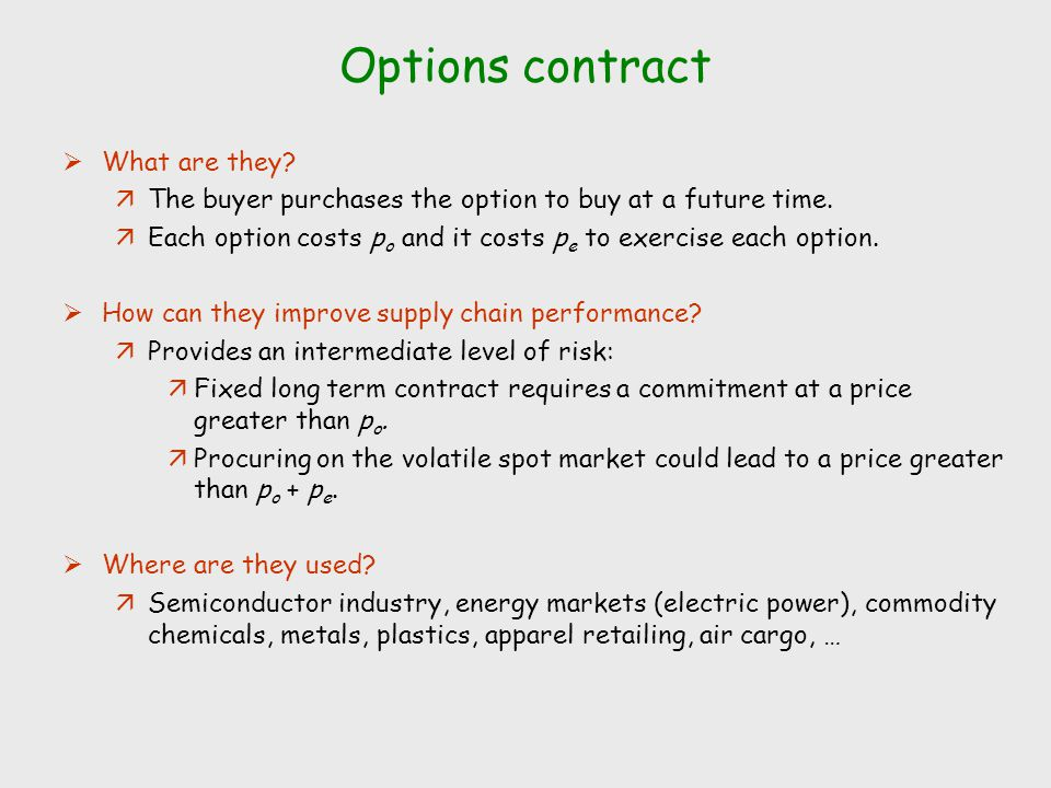 Employment contract stock options