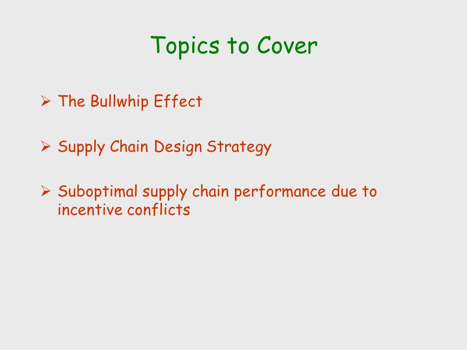 the bullwhip effect in the supply chain Keywords: bullwhip effect, supply chain, logistics predicting of demand is the significant tool in order the production planning and provisions, managing the surface or creating levels of personalized services.