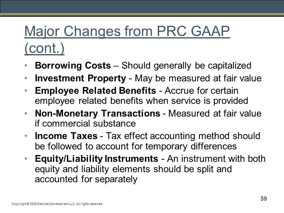 ifrs us and prc gaap A comparison of ifrs, us gaap and more than 100 countries require or permit use of ifrs china and the similarities and differences between ifrs, us gaap and.