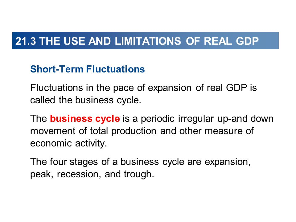 21.3 THE USE AND LIMITATIONS OF REAL GDP