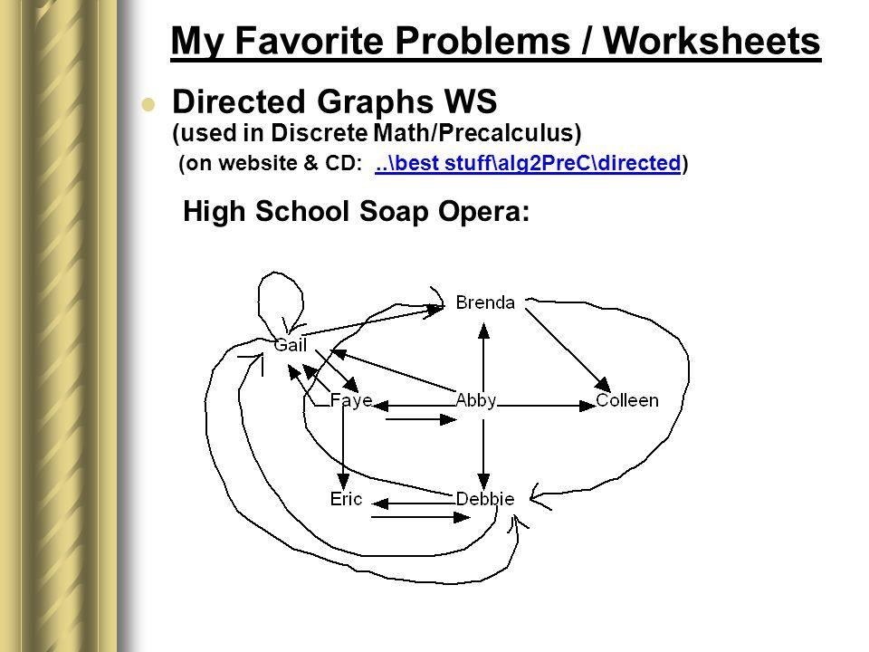 Making Math Fun by Robert Greenlee Wheaton Warrenville South High – Discrete Math Worksheets