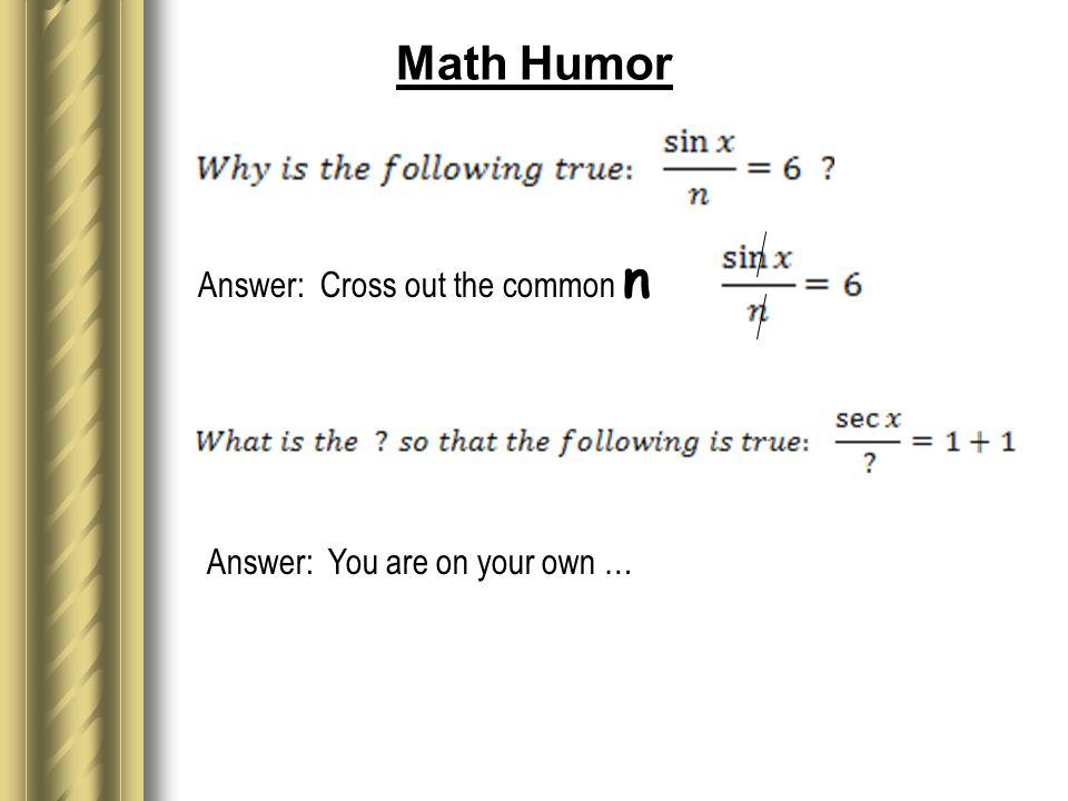 Making Math Fun by Robert Greenlee Wheaton Warrenville South High ...