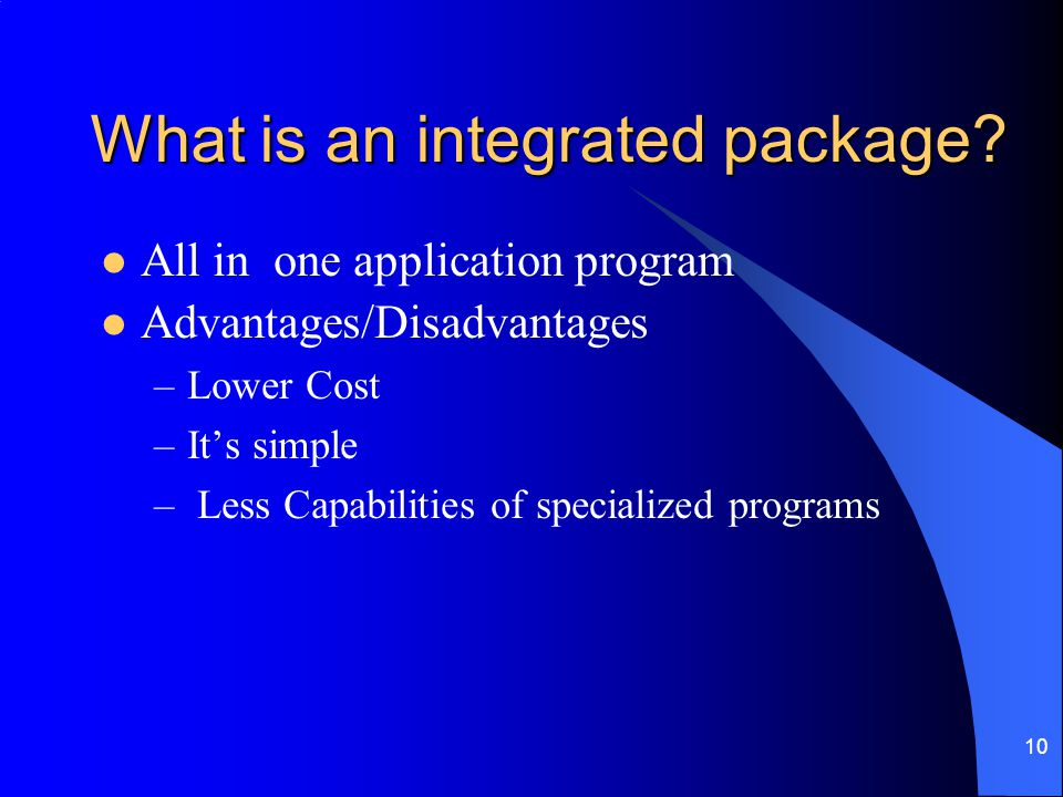 What is an integrated package