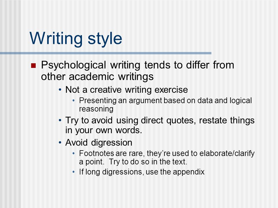academic writing style definition