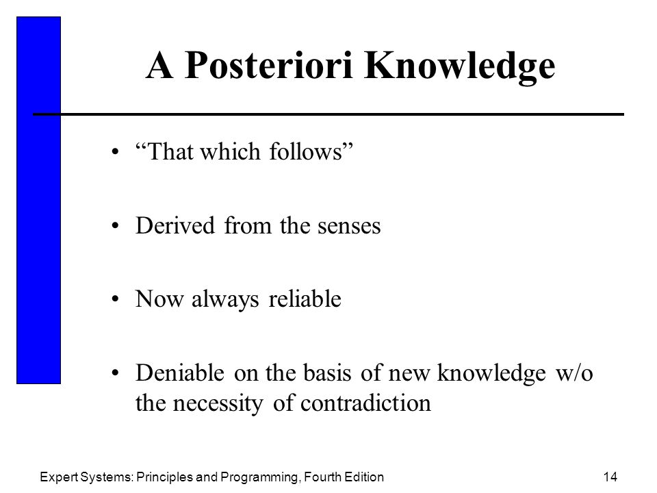 a priori knowledge The innate knowledge thesis joins the intuition/deduction thesis in asserting that we have a priori knowledge, but it does not offer intuition and deduction as the source of that knowledge it takes our a priori knowledge to be part of our rational nature.