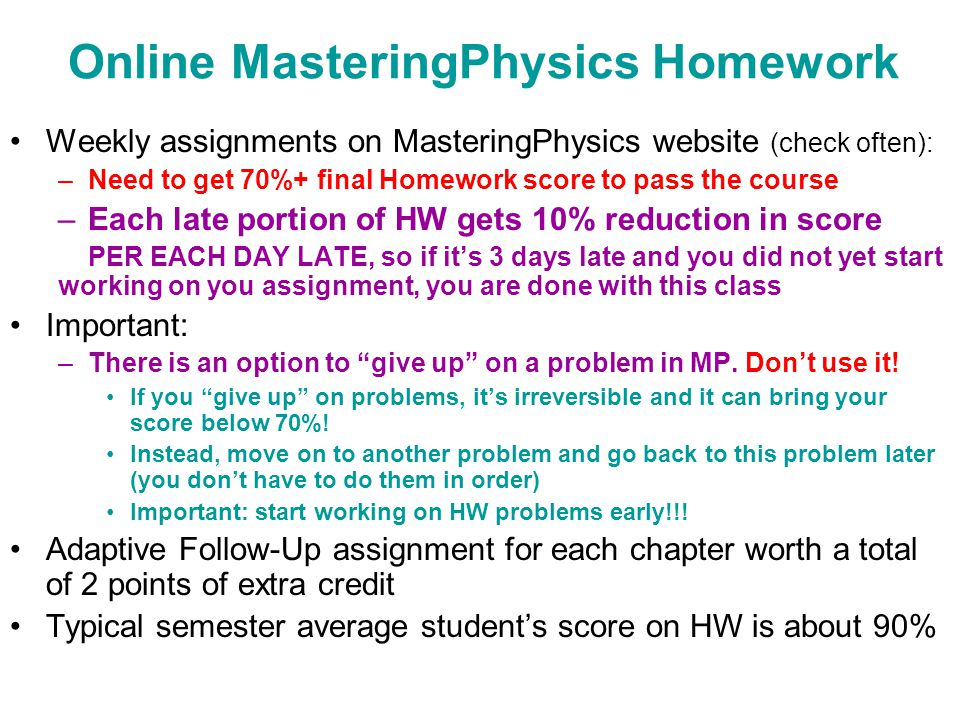 physics v kocharovsky ppt video online  online masteringphysics homework