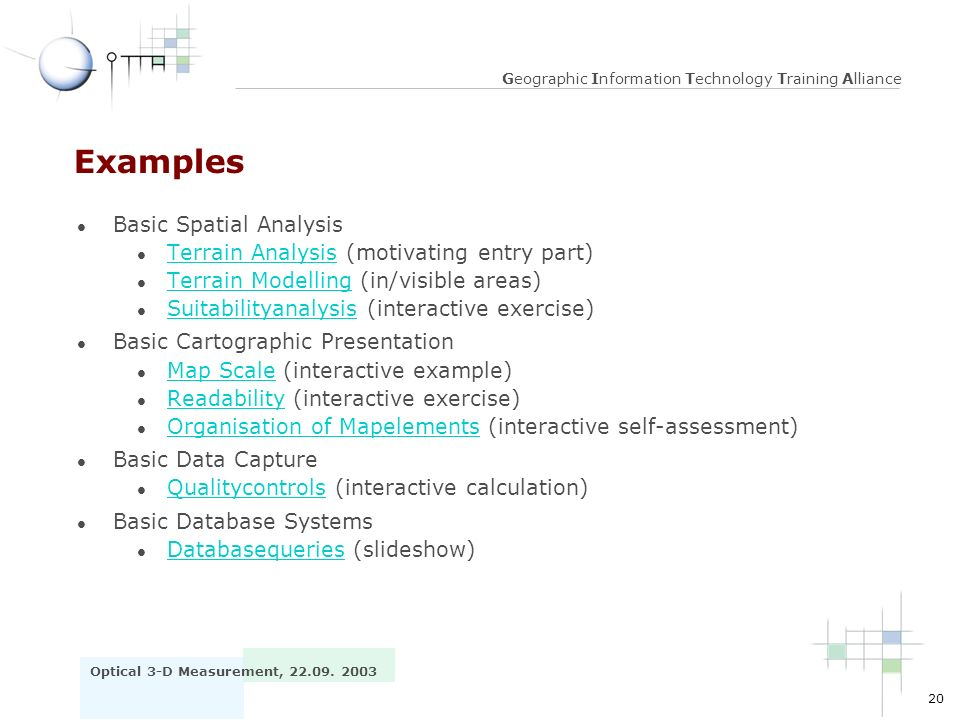 Examples Basic Spatial Analysis
