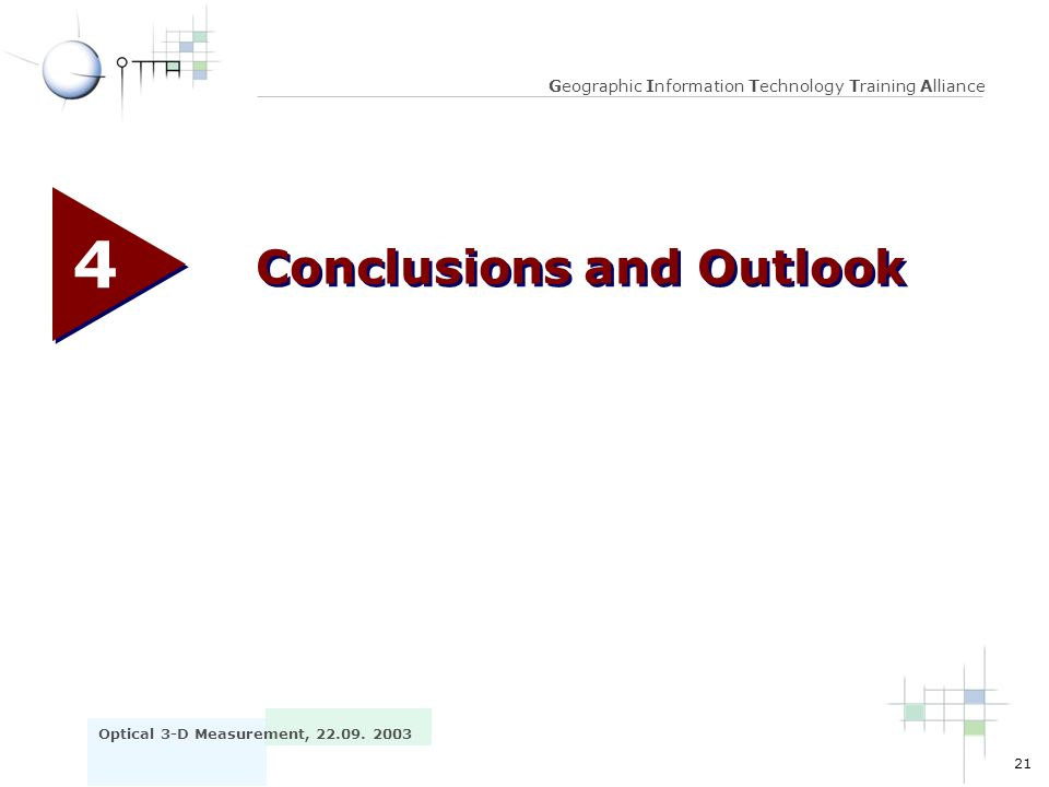 4 Conclusions and Outlook