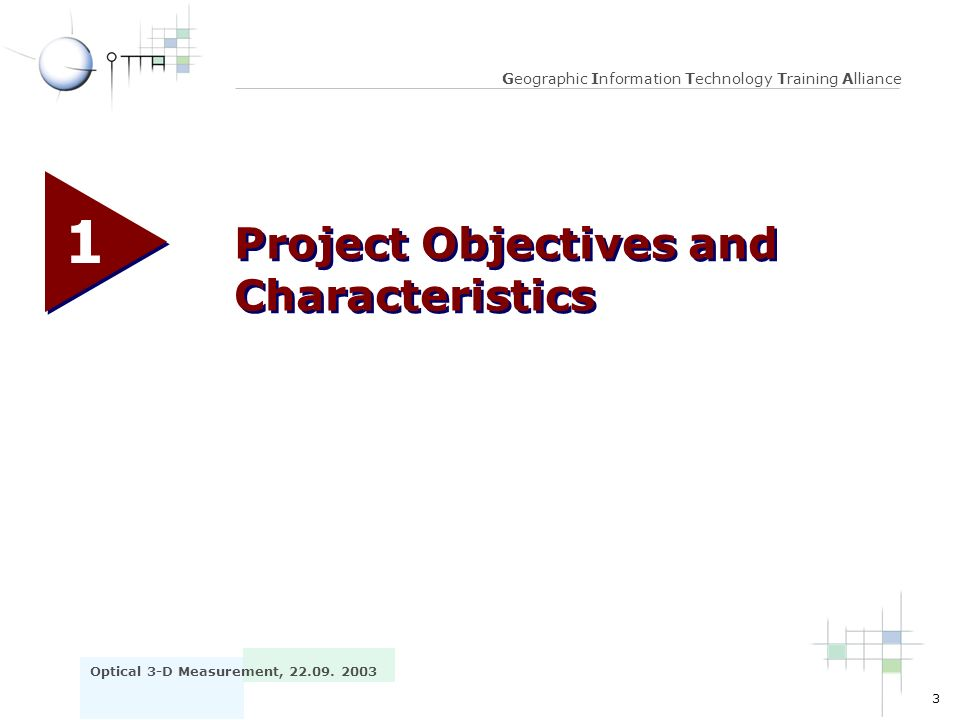 1 Project Objectives and Characteristics