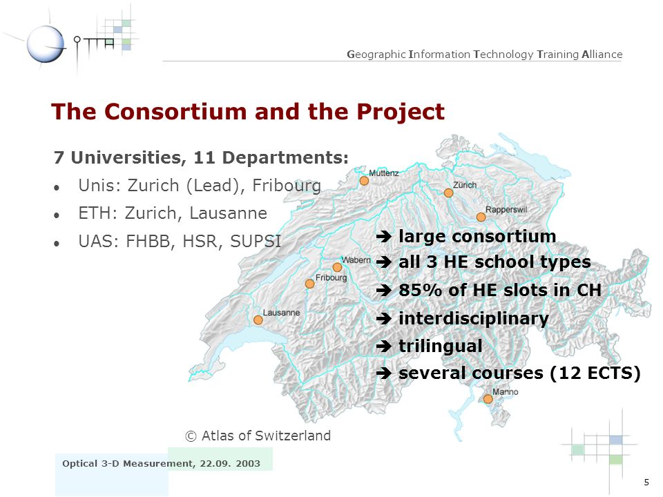 The Consortium and the Project