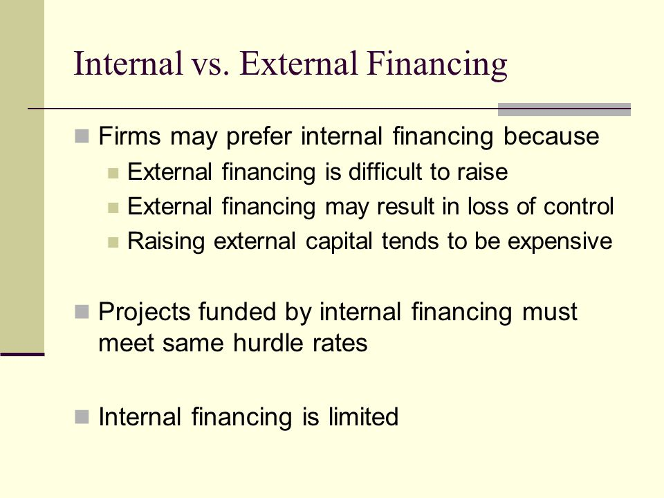 Internal vs. External Financing