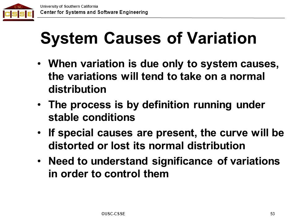 causes of variation Definition of common cause variation: statistical variation in the measurement of a process that results from well-understood and predictable sources common cause variation is also known as noise or natural patterns.