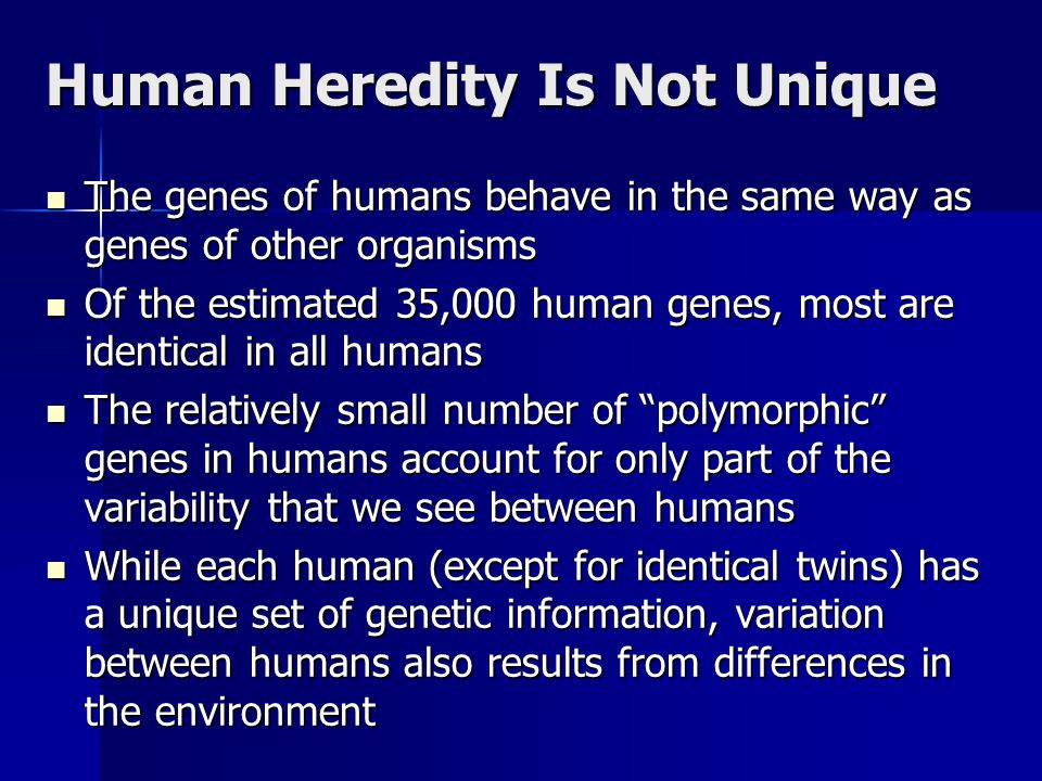 controversy between heredity and environment But if they are reared apart, any differences between them must be attributed to differences in their environment, while similarities are mainly due to their identical heredity.