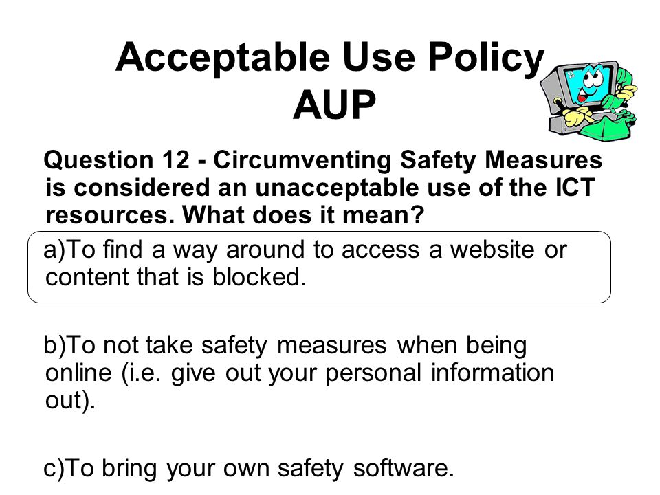 Acceptable Use Policy AUP