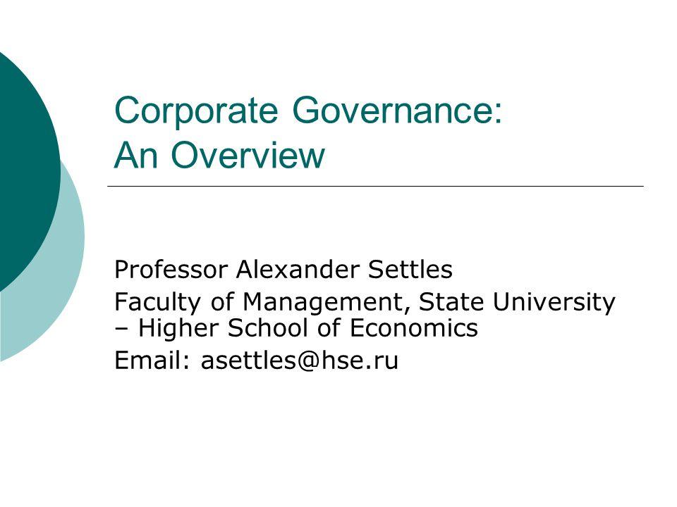 corporate governance case studies Case studies senior research fellow at usb's centre for corporate governance in africa and international corporate governance network.