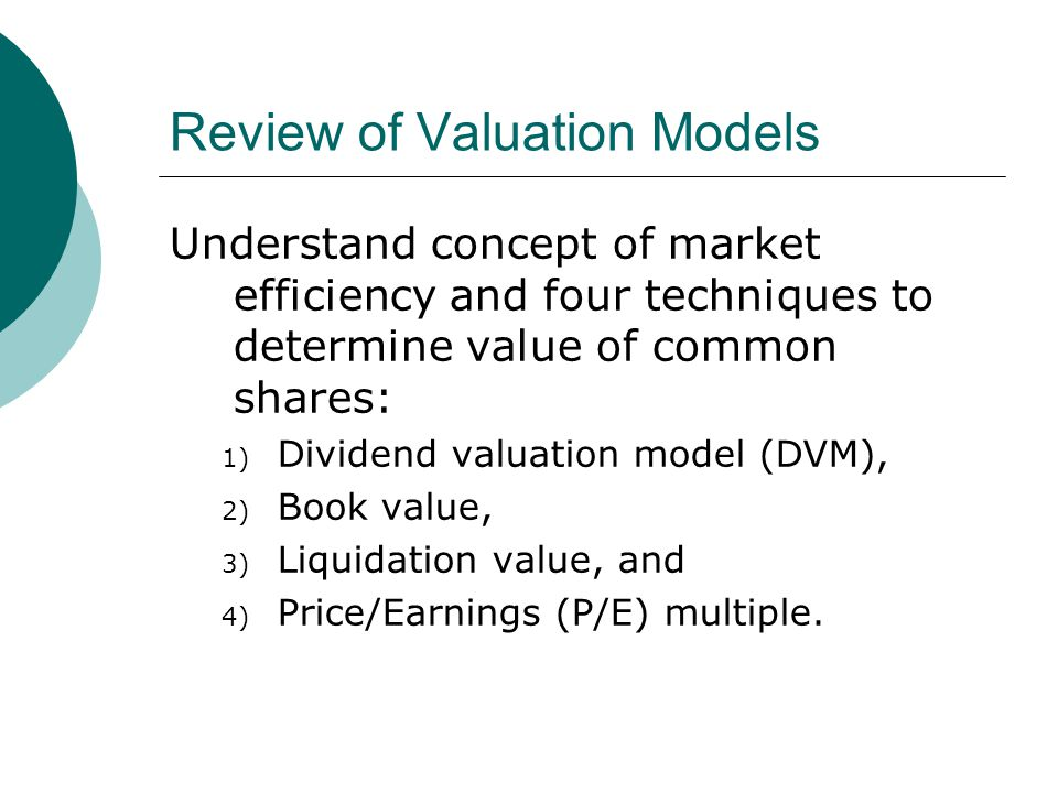 dividend valuation models disadvantage Answer to discuss the advantages and disadvantages of dividend valuation models.