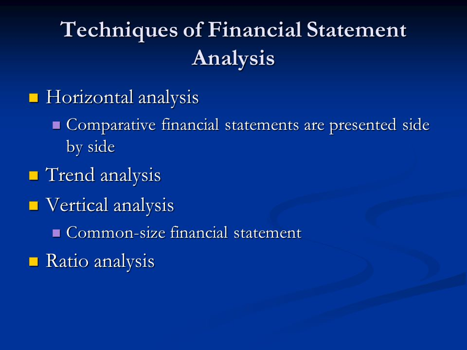 financial statement analysis tools Financial analysis is known by a number of names such as financial statement analysis, analysis of finance or accounting analysis it refers to an examination of the profitability, stability and viability of a project, firm, business or sub-business.