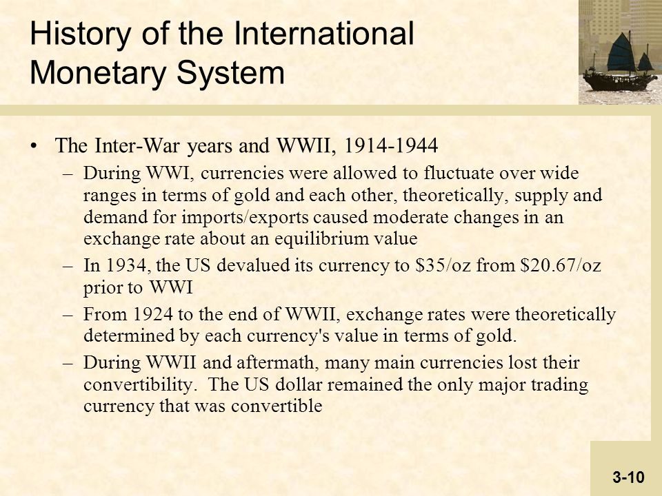 History of international trading system