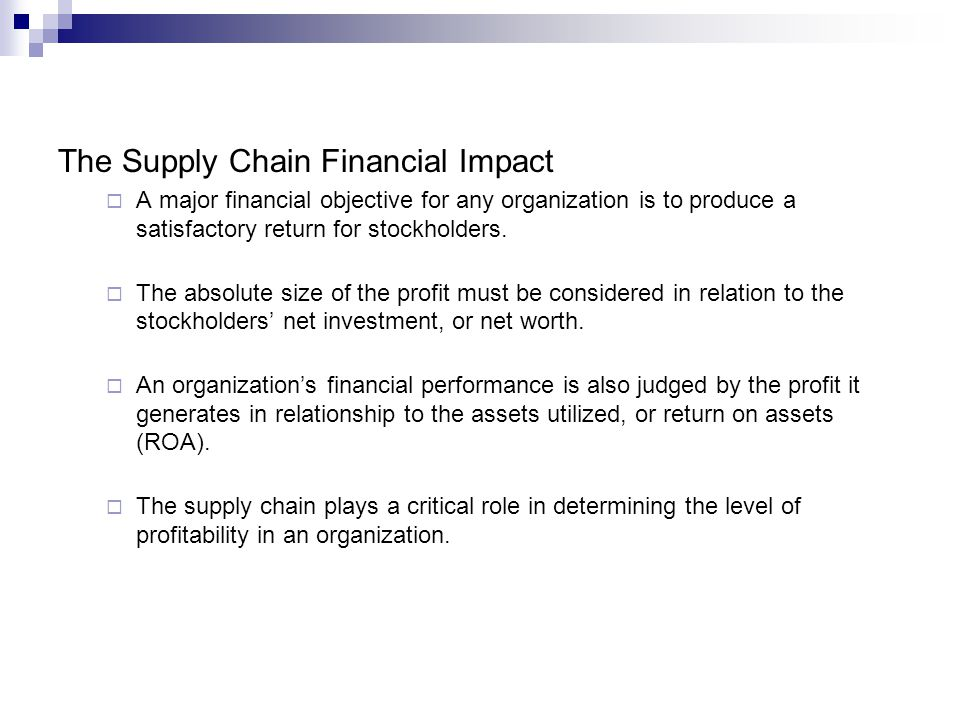 The Supply Chain Financial Impact