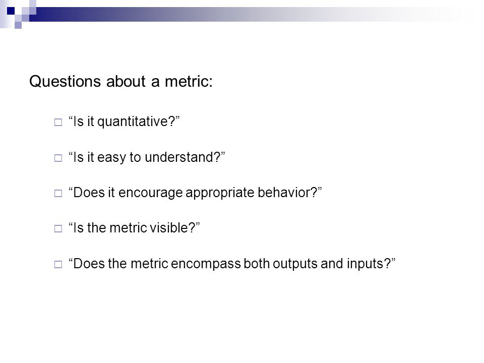 Questions about a metric: