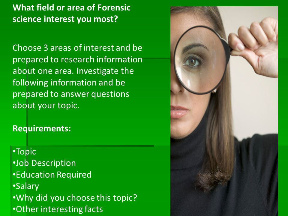 why forensic science Forensic science history the early years without question, the field of forensic science has come a very long way since its recorded beginnings in the 700s, when the chinese used fingerprints to establish the identity of documents and clay sculptures.