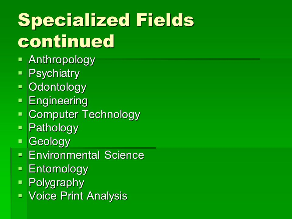 a analysis of criminalistics in the field of forensic science Forensic analytical crime lab and its employees are unique in the field of forensic science we are the only independent forensic laboratory in the state of california providing comprehensive consultation, case review, testing and expert witness services in almost every forensic discipline.