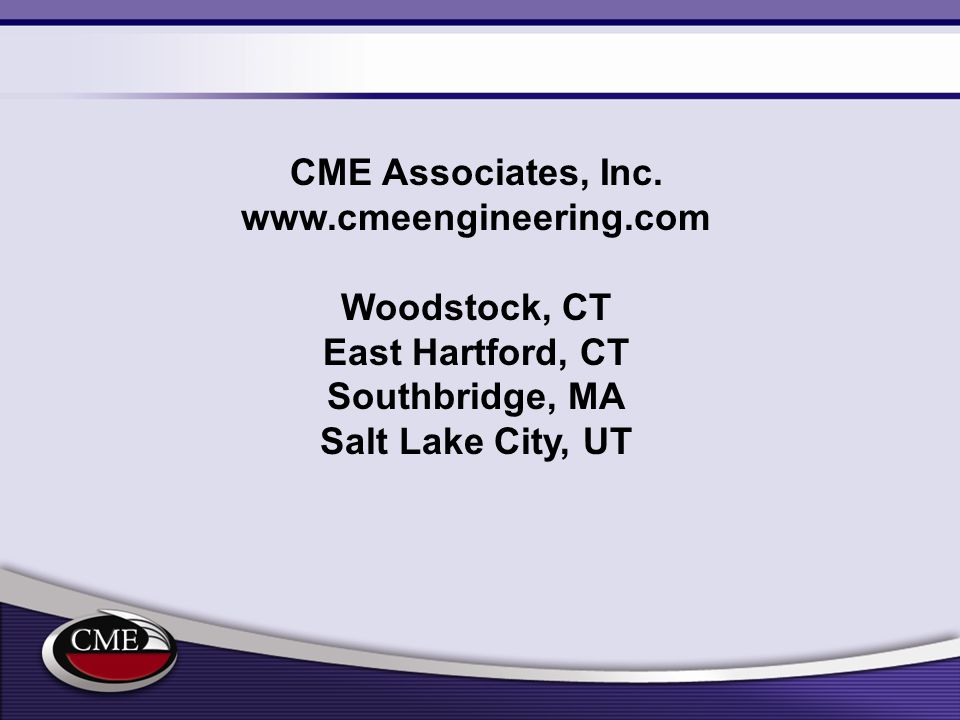 CME Associates, Inc.   Woodstock, CT.