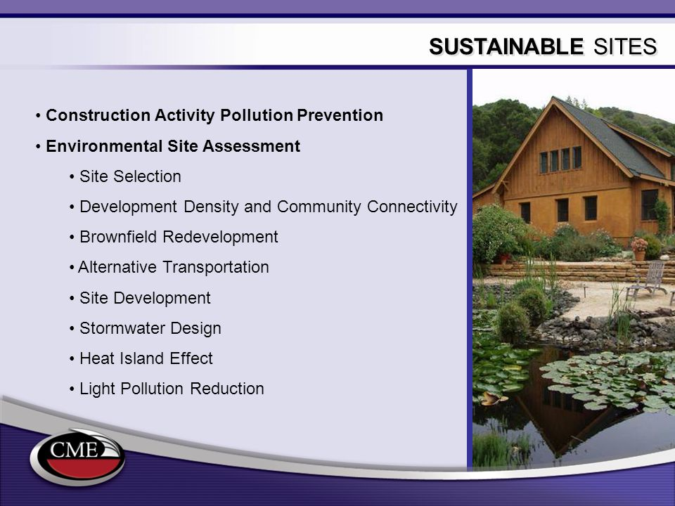 SUSTAINABLE SITES Construction Activity Pollution Prevention