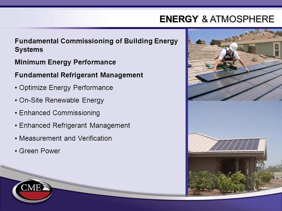 ENERGY & ATMOSPHERE Fundamental Commissioning of Building Energy Systems. Minimum Energy Performance.