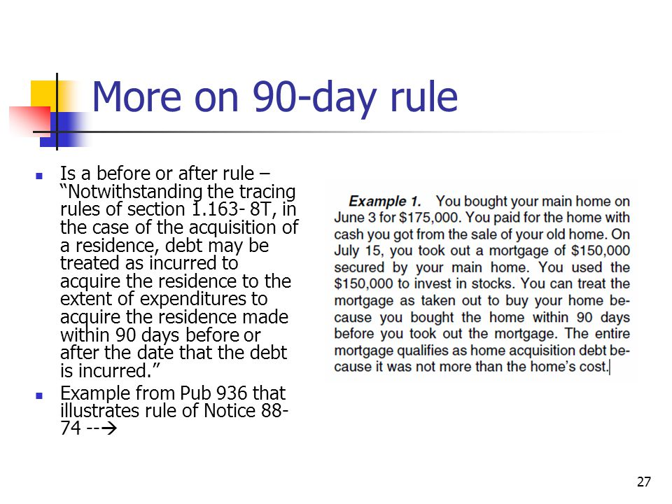 Dating 90 day rule