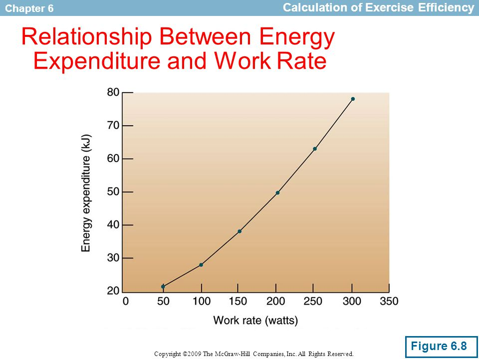 relationship between energy expenditure and power output