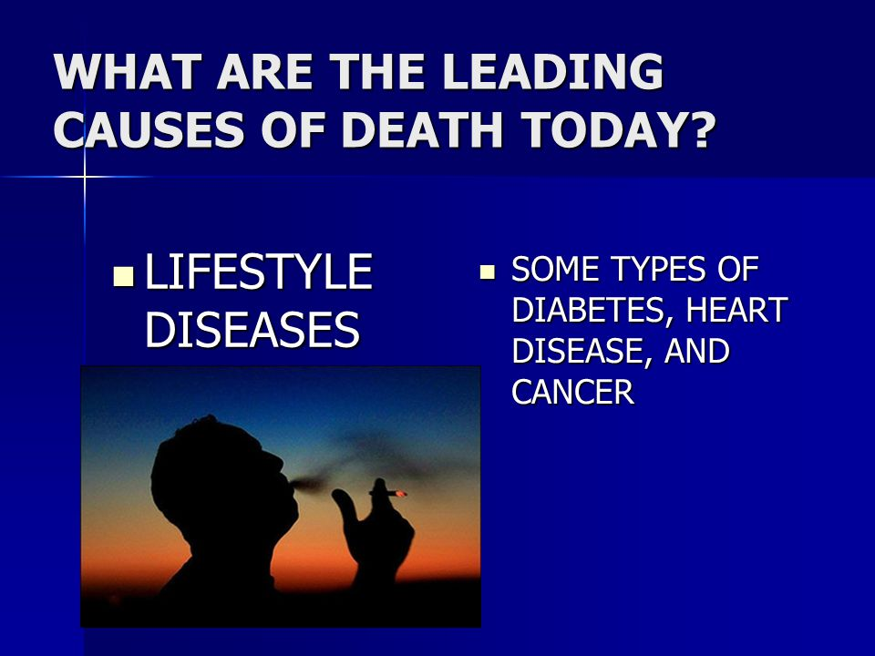 lifestyle causes of disease There are several causes of type 2 diabetes, including genetics and lifestyle choices developing type 2 is very dependent on how healthy you are: how well you eat.