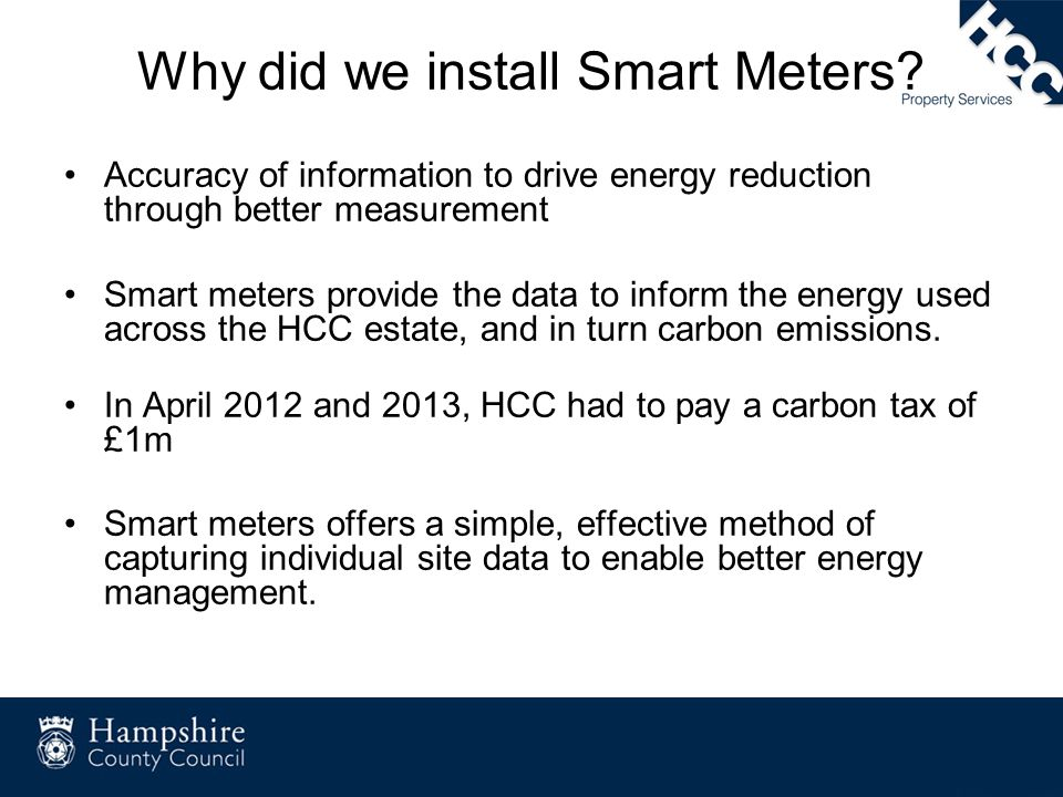 Why did we install Smart Meters