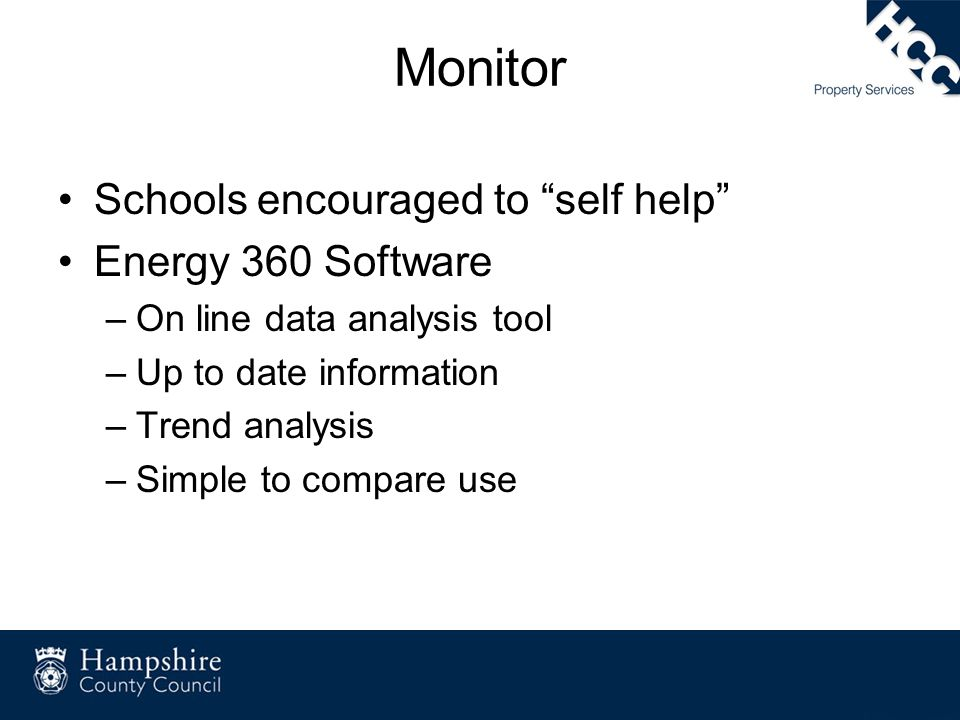 Monitor Schools encouraged to self help Energy 360 Software