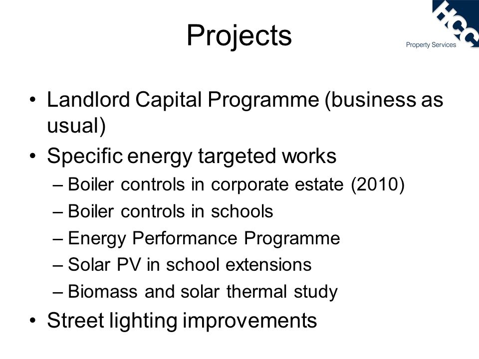 Projects Landlord Capital Programme (business as usual)