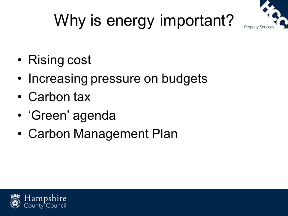 Why is energy important