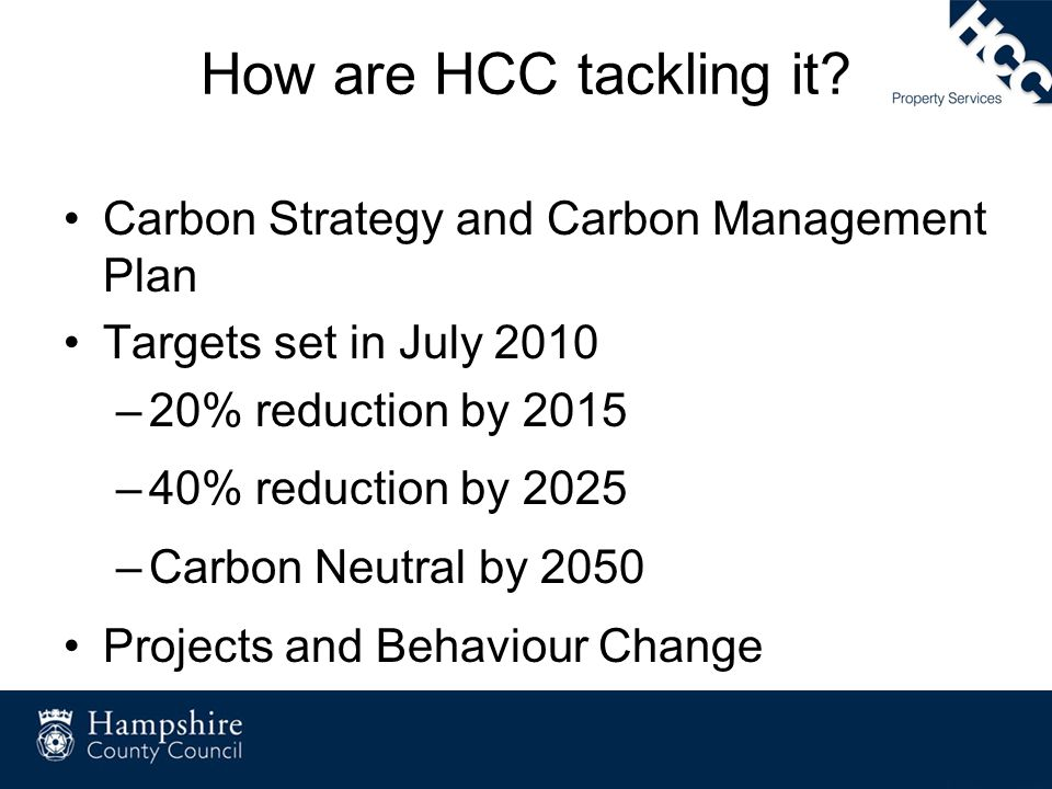 How are HCC tackling it Carbon Strategy and Carbon Management Plan
