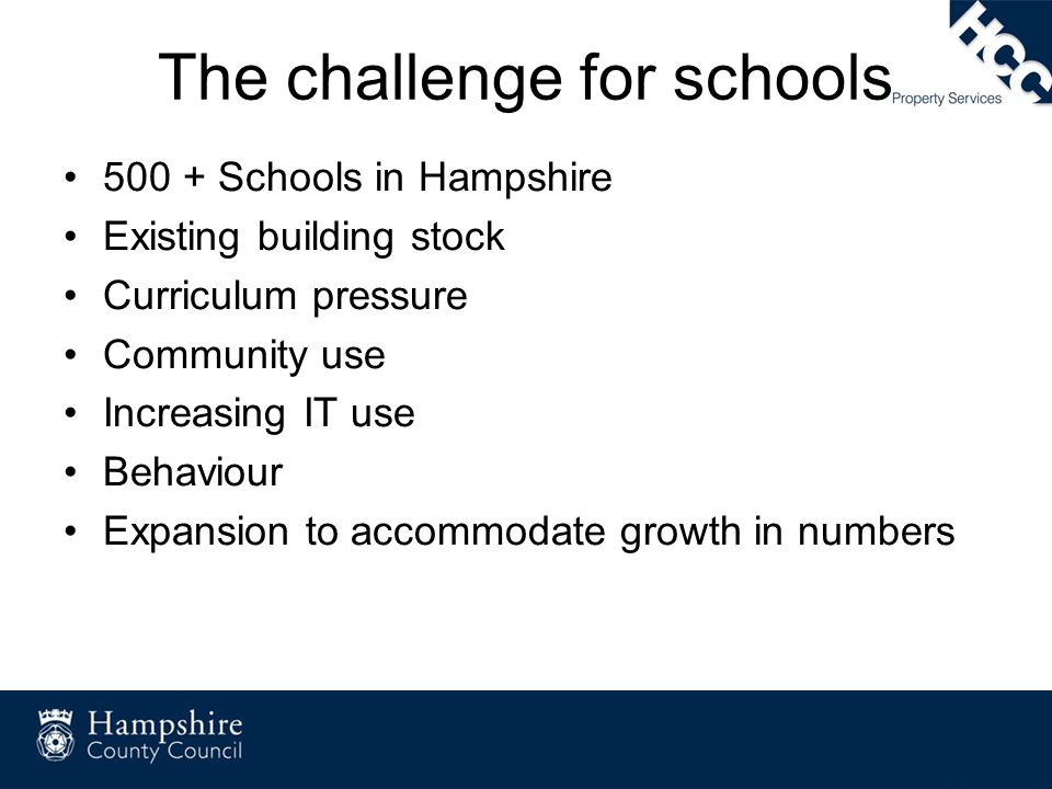 The challenge for schools