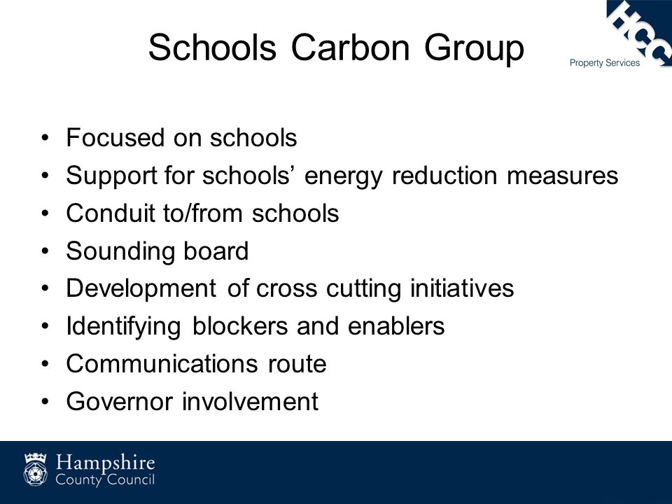 Schools Carbon Group Focused on schools